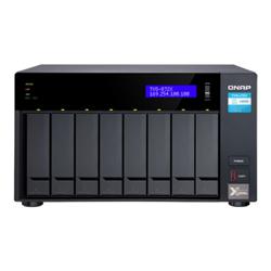 QNAP 8-BAY NAS (NO DISK) INTEL QC 3.1GHZ- 8GB- 10GBE(1)- GBE(2)- M.2(2)- TWR- 2YR WTY