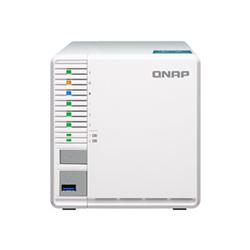 QNAP 3-BAY NAS (NO DISK) CELERON 2.41GHZ- 4GB- GBE- HDMI- TWR- 2YR WTY