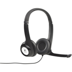 LOGITECH H390 WIRED USB STEREOHEADSET- NOISE CANCELLING MIC- 2YR WTY