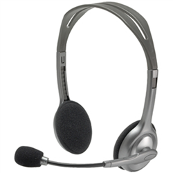 LOGITECH H110 STEREO HEADSET - WIRED- 3.5MM CONNECTOR- 2 YR  WTY