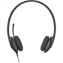 LOGITECH H340 WIRED USB STEREO HEADSET- NOISE CANCELLING MIC-2YR WTY