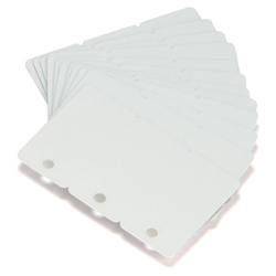 ZEBRA BLANK CARDS CR-80 30 MIL 3 PART 500/BOX WHI