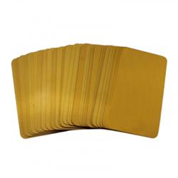 ZEBRA CARDS PVC 30MIL 500/BOX GOLD