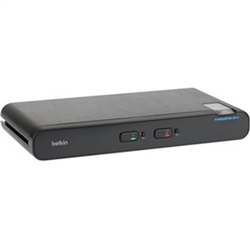 BELKIN 2-PORT SECURE 2 HEAD DP/HDMI UNIVERSAL KVM SWITCH WITH CAC- 3YR WTY