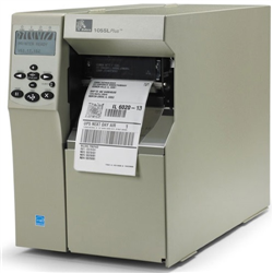 105SLPLUS 4IN INDUSTRIAL THERMAL TRANSFER PRINTER 203DPI UK/AU/JP CORD SERIAL PARALLEL USB INT 10/100 B/G PRINT SERVER 16MB FLASH