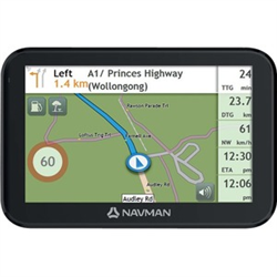 NAVMAN CRUISE550MT 5-INCH CAPACITIVE TOUCHSCREEN ANZ FREE MAPS INCLUDED BT HANDSFREE ADVANCED LANE GUIDANCE SPOKEN STREET NAMES 3D JUNCTION VIEWS REAL SIGNAGE VEHICLE POWER ADAPER WITH USB PORT