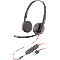 PLANTRONICS BLACKWIRE C3225 UC STEREO USB-A & 3.5MM CORDED - PROMO ENDS 26 JUN 21