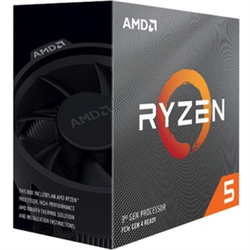 AMD RYZEN 5 3600- 6-CORE/12 THREADS UNLOCKED- MAX FREQ 4.20GHZ- 36MB CACHE SOCKET AM4 65W- WITH WRAITH STEALTH COOLER