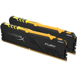 16GB 2666MHZ DDR4 CL16 DIMM (KIT OF 2) 1RX8 HYPERX FURY RGB