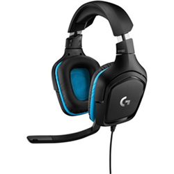 LOGITECH G432 WIRED 7.1 DTS SRS GAMING HEADSET- 50MM AUDIO DRIVER-BLACK- 2YR WTY