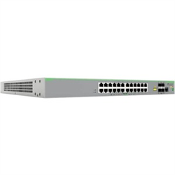 24 PORT 10/100T POE MANAGED ACCESS SWITCH WITH 4 SFP UPLINKS AND DUAL FIXED AC/DC POWER SUPPLIES