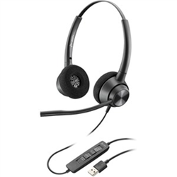 POLY ENCOREPRO EP320- STEREO  USB-A CORDED HEADSET-WITH INLINE CONTROL
