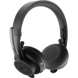 LOGITECH ZONE PLUS WIRELESS STEREO HEADSET-BT- NOISE CANCELLING-UNIFYING RECEIVER- 2YR WTY