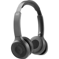 CISCO (HS-WL-730-BUNA-C) 730 WIRELESS DUAL ON-EAR HEADSET USB-A BUNDLE - CARBON BLACK