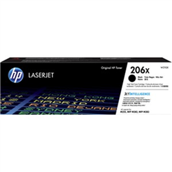 HP 206X BLACK TONER - HIGH YIELD - APPROX 3.15K PAGES - FOR M283- M255 PRINTERS