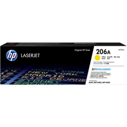 HP 206A YELLOW TONER - APPROX 1.25K PAGES - FOR M283- M255 PRINTERS