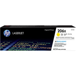 HP 206X YELLOW TONER - HIGH YIELD - APPROX 2.45K PAGES - FOR M283- M255 PRINTERS