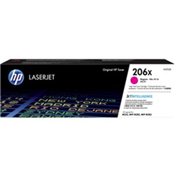HP 206X MAGENTA TONER - HIGH YIELD - APPROX 2.45K PAGES - FOR M283- M255 PRINTERS