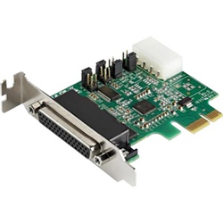 4-PORT PCI EXPRESS RS232 SERIAL ADAPTER CARD - 16950 UART - 256-BYTE FIFO CACHE - ASIX AX99100 - LOW PROFILE BRACKET - REPLACEMENT FOR PEX4S952LP (PEX4S953LP)