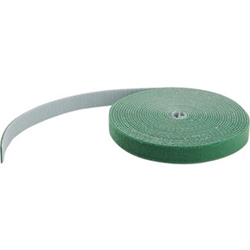 HOOK AND LOOP TAPE - 30 4 M - REUSABLE ADJUSTABLE CABLE TIES - GREEN (HKLP100GN)