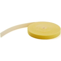 HOOK AND LOOP TAPE - 30 4 M - REUSABLE ADJUSTABLE CABLE TIES - YELLOW (HKLP100YW)