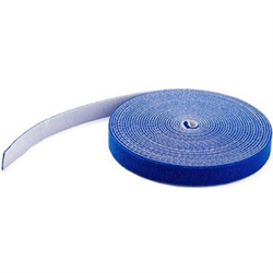 HOOK AND LOOP TAPE - 7 6 M - REUSABLE ADJUSTABLE CABLE TIES - BLUE (HKLP25BL)