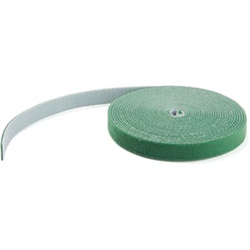 HOOK AND LOOP TAPE - 7 6 M - REUSABLE ADJUSTABLE CABLE TIES - GREEN (HKLP25GN)
