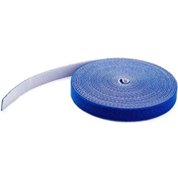 HOOK AND LOOP TAPE - 15 M - REUSABLE ADJUSTABLE CABLE TIES - BLUE (HKLP50BL)