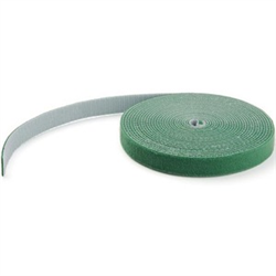 HOOK AND LOOP TAPE - 15 M - REUSABLE ADJUSTABLE CABLE TIES - GREEN (HKLP50GN)