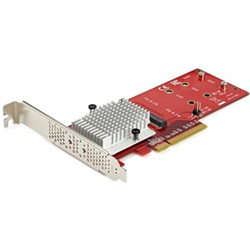 STARTECH.COM DUAL M.2 PCIE SSD ADAPTER CARD- X8/X16 DUAL NVME OR AHCI M.2 TO PCIE 3.0- 2YR