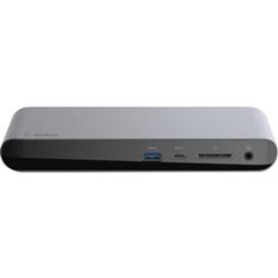 BELKIN THUNDERBOLT3 DOCK- TB3 AND 85W PASSTHROUGH- USB-C- USB-A 3.1(5)- DP- RJ45- SD SLOT-
