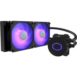 COOLERMASTER MASTERLIQUID LITE ML240L V2 RGB CPU COOLER- RGB- 2 X120MM RGB FAN 240MM RADIA