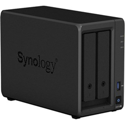 SYNOLOGY DS720+- 2 BAY NAS (NO DISK)- CEL-J4125- 2GB-GBE(2)-USB(2)-M.2(2)-ESATA- 3YR