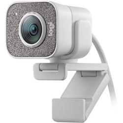 LOGITECH STREAMCAM 1080P HD-BUILT IN MIC-AUTO FOCUS-USB-C-WHITE-1YR WTY