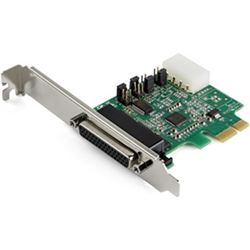4-PORT PCI EXPRESS RS232 SERIAL ADAPTER CARD - 16950 UART - 256-BYTE FIFO CACHE - ASIX AX99100 - FULL PROFILE BRACKET - REPLACEMENT FOR PEX4S952 (PEX4S953)