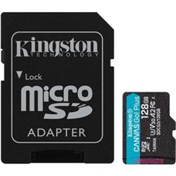 128GB MSDXC CANVAS GO PLUS 170R A2 U3 V30 CARD+ ADAPTER