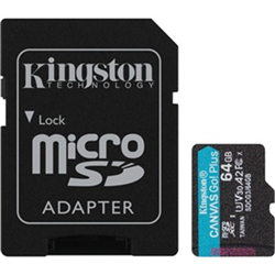 64GB MSDXC CANVAS GO PLUS 170R A2 U3 V30 CARD + ADAPTER