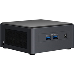 INTEL NUC MINI PRO KIT-I7-1185G7-DDR4(0/2)-M.2(0/1)-2.5(0/1)VPRO-NO PWR CORD-3YR WTY