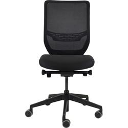 Ergotron Task Chair - Adjustable Seat - 410 mm to 520 mm High - Graphite Black Fabric Seat - 5-star Base - Graphite Black