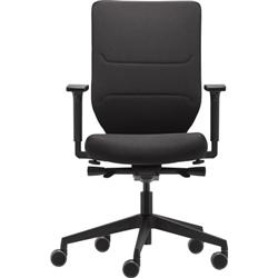 Ergotron Task Chair - Adjustable Seat - 410 mm to 520 mm High - Graphite Black Fabric Seat - 5-star Base - Graphite Black - Armrest