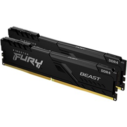 16GB 2666MHZ DDR4 CL16 DIMM (KIT OF 2) FURY BEAST BLACK