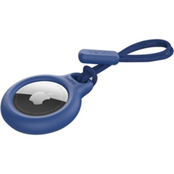SECURE HOLDER WITH STRAP FOR AIRTAG - BLUE