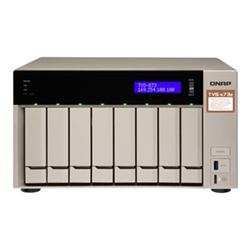 QNAP 8-BAY NAS (NO DISK) AMD QC 2.1GHZ- 4GB- GBE(4)- HDMI- TWR- 2YR WTY
