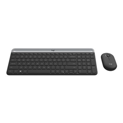 LOGITECH MK470 SLIM WIRELESS KEYBOARD AND MOUSE COMBO-2.4 GHZ  RECEIVER-GRAPHITE - 1YR WTY
