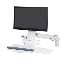 ERGOTRON SIT-STAND STYLEVIEW COMBO ARM WHITE