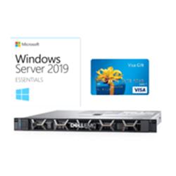 DELL R240 1U- E-2224(1/1)- 8GB + MS WIN SVR ESSENTIALS 2019 + BONUS $200 VISA CARD