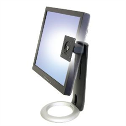 NEO-FLEX LCD DISPLAY STAND BLACK COLOUR 130MM HEIGHT ADJUST TILT SWIVEL AND PIVOT 75 AND100MM VESA MOUNT MAX WEIGHT 7.2KG MAX SI