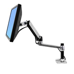 LX DESK MOUNT LCD DISPLAY ARM POLISHED ALUMINIUM MAX SIZE 32IN MAX WEIGHT 11.3KG