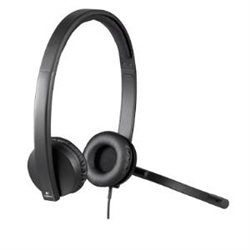 LOGITECH H570E WIRED USB STEREO HEADSET- NOISE & ECHO CANCELLING- 2YR WTY
