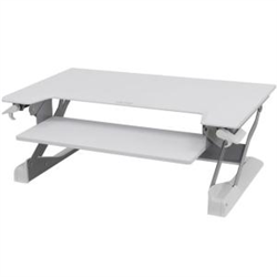 WORKFIT TL BRIGHT WHITE SIT STAND DESKTOP WORKSTATION. HEIGHT ADJUSTABLE - REPLACES 33-397-062